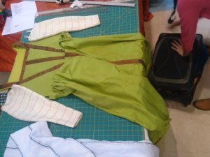 finished gown and sleeves